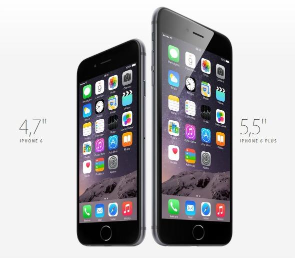 iPhone 6 e iPhone 6 Plus. Crédito: Divulgação