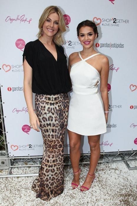 Ana Hickmann e Bruna Marquezine no lançamento da websérie Orgulho Pink, em São Paulo - Crédito: Manuela Scarpa/Divulgação