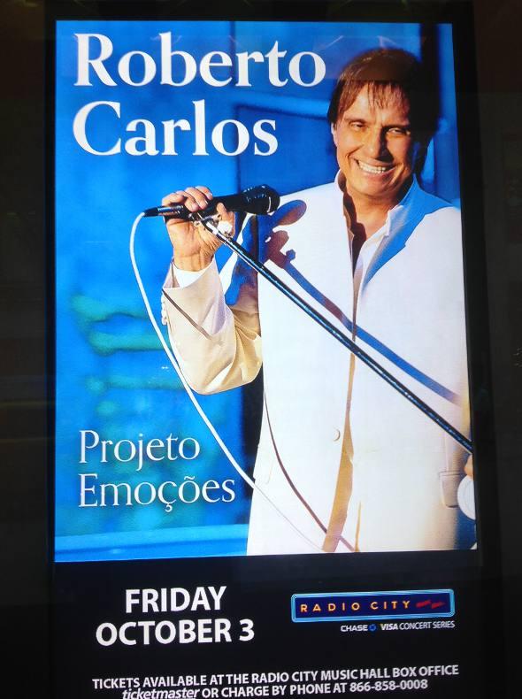 Cartaz do show de Roberto Carlos