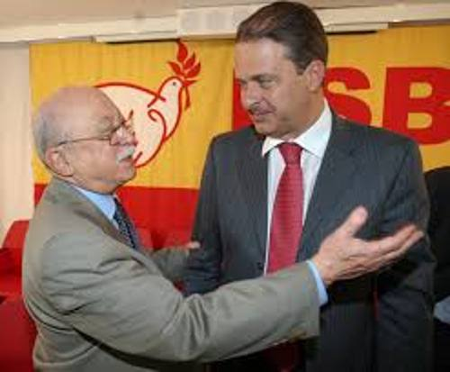 Roberto Amaral e Eduardo Campos/PSB/Divulgação