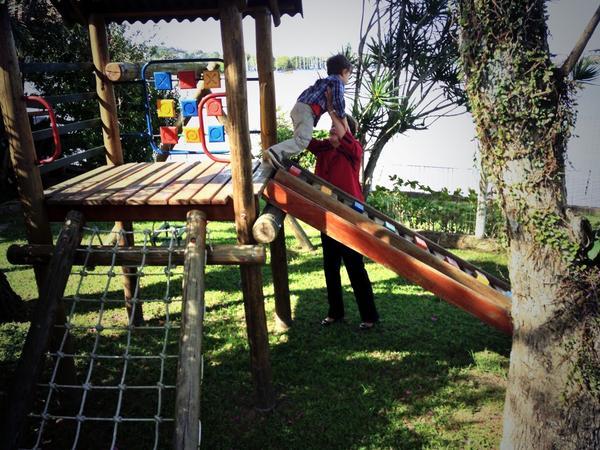Dilma foi brincar com o neto na casa do ex-marido, após a votação. Crédito: Reprodução twitter