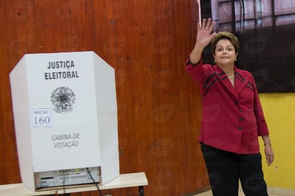 Dilma Rousseff votou em Porto Alegre. Crédito: Agência Brasil / Divulgação