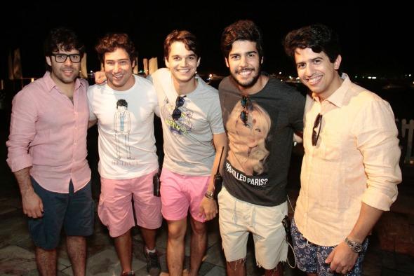 Cristiano Lumack, Iquinho Facchini, Victor Carvalheira, José Pinteiro e Aníbal Pinteiro. Crédito: Gleyson Ramos