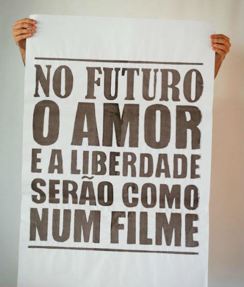 Lambe sobre o filme Tatuagem. Foto:  Mario Freitas Neto/Divulgação