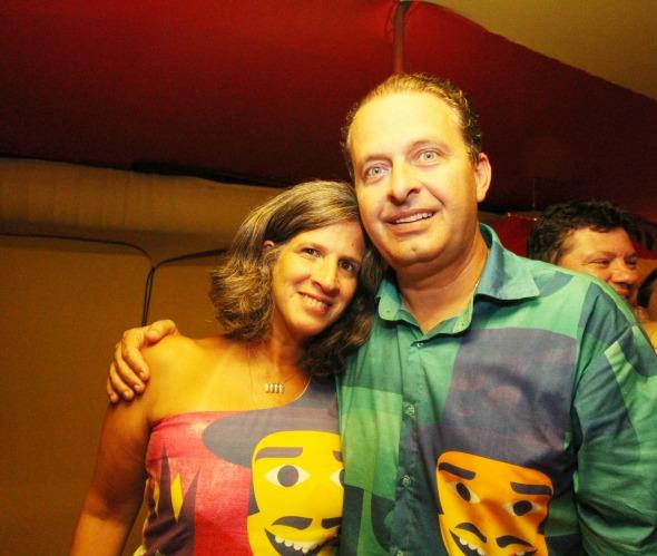 Renata e Eduardo Campos no Carnaval do ano passado. Crédito: Nando Chiappetta/DP/D.A Press