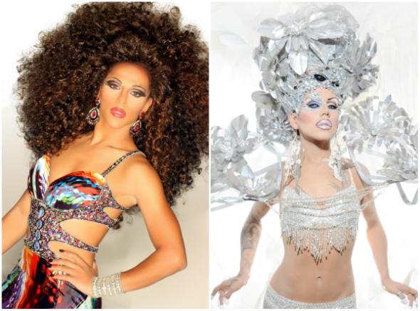 Drag queens Shangela e Yara Sofia. Foto montagem: FanPage/Reprodução