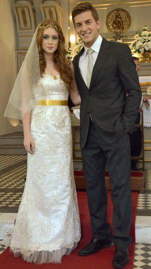 Marina Ruy Barbosa vestida de noiva em Morde e Assopra. Crédito: Globo / Divulgação