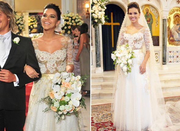 Mari Rios no seu casamento em Salve Jorge. Crédito: Globo / Divulgação