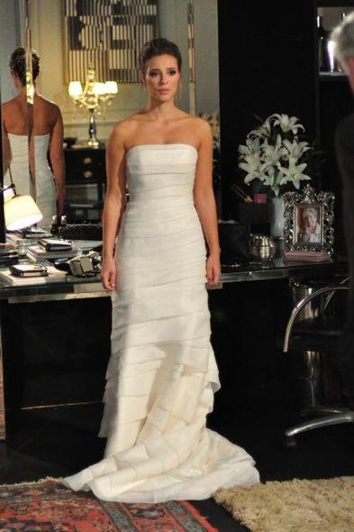 Marina pronta para casar com Leo. Crédito: Globo / Divulgação