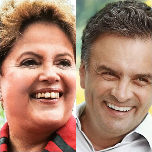 Dilma Roussef e Aécio Neves - Crédito: Reprodução Facebook