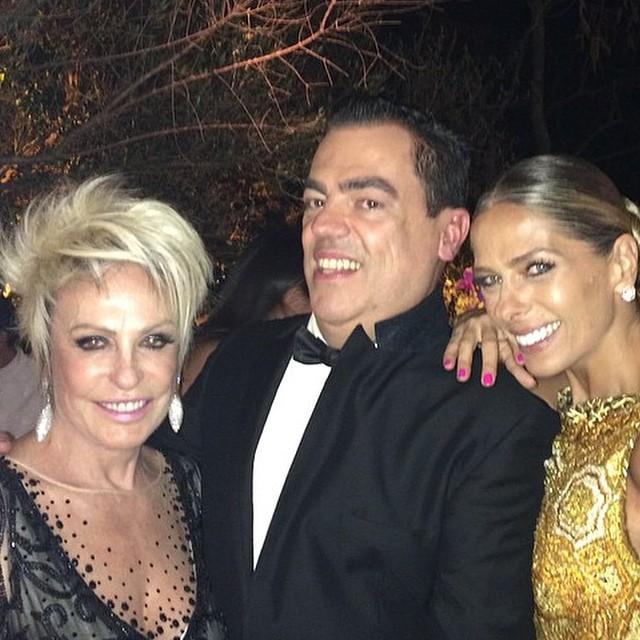 Ana Maria Braga, Marco Antônio de Biaggi e Adriane Galisteu. Crédito: Reprodução Instagram