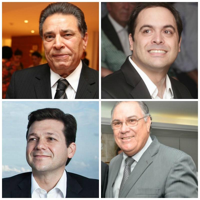 João Lyra Neto, Paulo Câmara, Geraldo Julio e Frederico Neves, presidente do TJPE. Créditos: Nando Chiappetta/Alcione Ferreira/Cristiane Silva/Esp.DP/D.A Press/PCR/ Divulgação