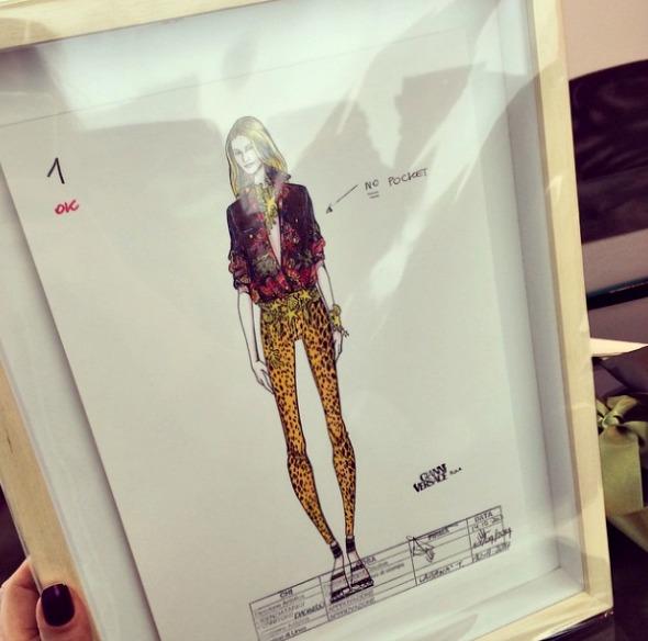 Croqui da coleção Versace para Riachuelo - Crédito: Reprodução do Instagram