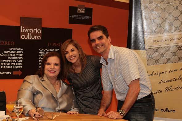 rita Martins, Luciana e Flávio Lócio - Crédito: Nando Chiappetta/DP/D.A Press