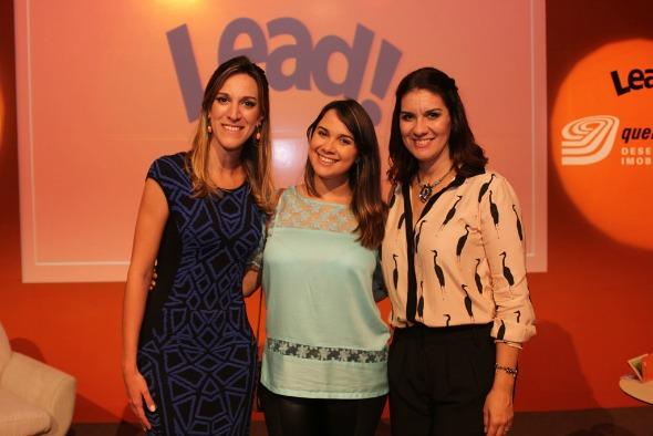 Camila Piccini, Nina Lacerda e Jamine Tinoco. Crédito: Américo Nunes