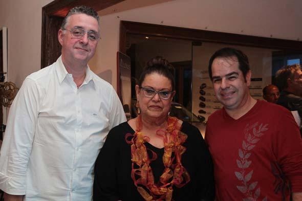 André Wanderley, Beth Itamar e Fábio Benevides. Crédito: Nando Chiappetta/DP/D.A Press