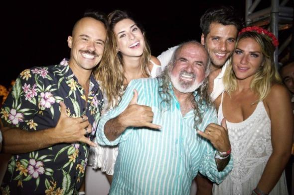 Paulinho Vilhena, Fernanda Paes Leme, Zé Maria, Bruno Gagliasso e Giovanna Ewbank - Crédito: Zaira Matheus