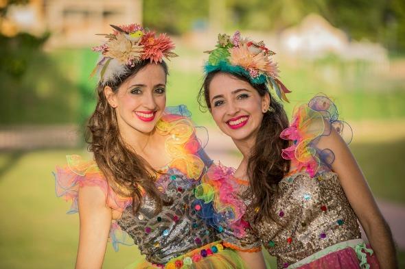 As Fadas Magrinhas fazem a festa no Bailinho de Carnaval do Riomar. Créditos: Divulgação das artistas