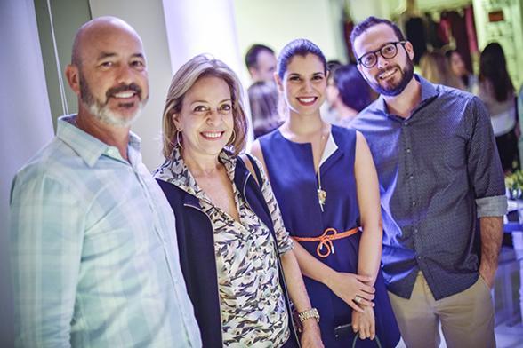 Sandro Curra, Márcia Nejaim, Suzana Azevedo e Beto - Crédito: Felipe Ribeiro/Divulgação