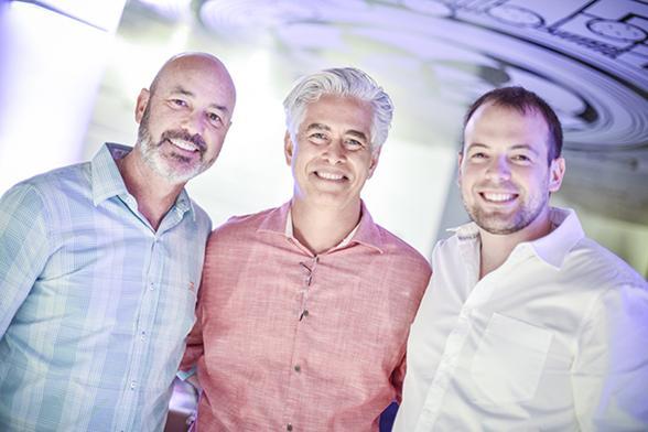 Sandro Curra, Romero Duarte e Mateus Corradi - Crédito: Felipe Ribeiro/Divulgação