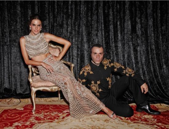 Alessandra Ambrósio e Matheus Mazzafera. Crédito: Philippe Kliot/reprodução
