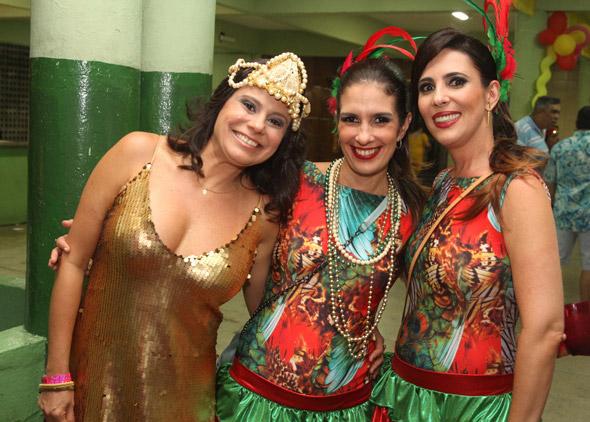 Cris Pontual, Andrea Galiza e Taciana Maluf. Crédito: Nando Chiappetta/DP/D.A Press