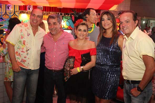 Celso Coli, Guilherme Machado, Gláucia, Cláudia Leite e Yuri Leite - Crédito: Nando Chiappetta/DP/D.A Press