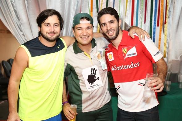 Rodrigo Carvalheira, Geraldo Bandeira e Gustavo Krause. Crédito: Gleyson Ramos / Divulgação
