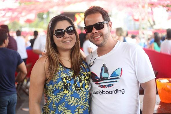 Beatriz Campos e Rodrigo Calazans. Crédito: Vinícius Ramos/Vagalume Comunicação