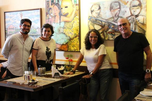 André Queiroz, Magna Coeli, Lu e Jeff Colas. Crédito: Carol Silveira/Divulgação