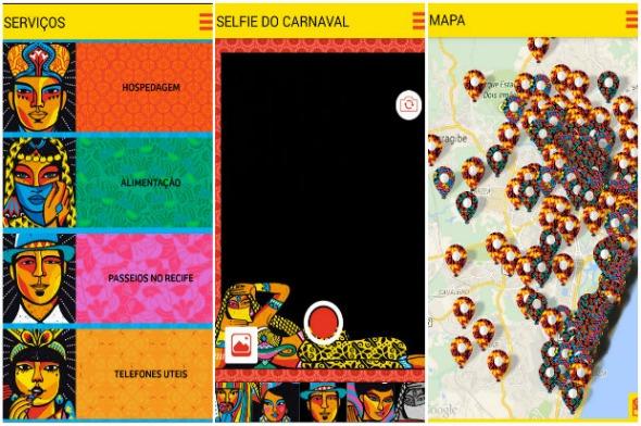 Aplicativo Carnaval Recife 2015 - Crédito: Reprodução da internet/Divulgação