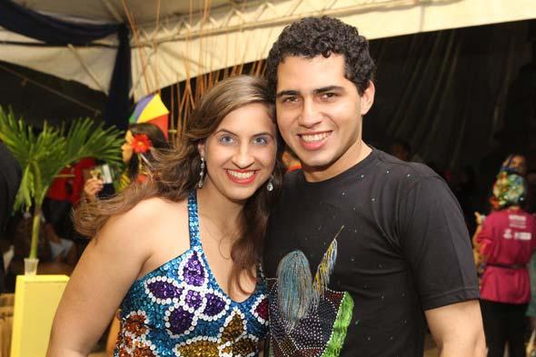 Maria Eduarda Campos e Thomas Alencar - Crédito: Nando Chiappetta/DP/D.A Press
