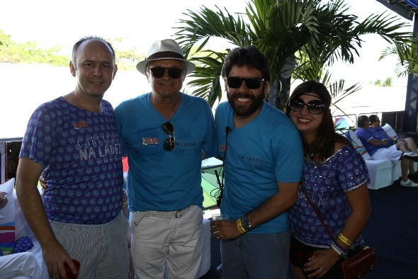 Paulo Williams, Eduardo Carvalheira, Kiko Lumack e Isabelle Fragapane. Crédito: Gleyson Ramos e Felipe Ribeiro