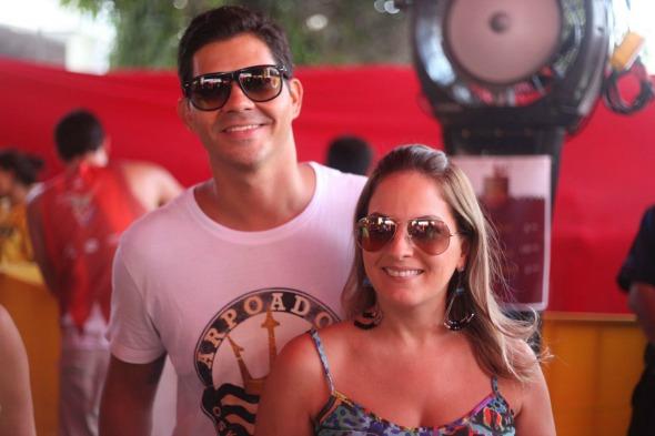 Cristiane Pinto e Frediano Vidal. Crédito: Vinicius Ramos/ Vagalume