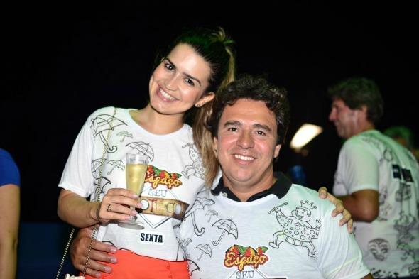 Camila Petuba e Edinho Medeiros. Crédito: Larissa Nunes/ Vagalume
