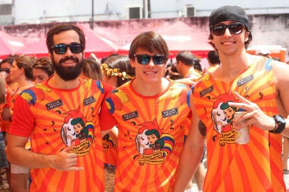 João Paulo Cavendish, Guilherme Laroche e Carlos Fernando. Crédito: Vinicius Ramos/ Vagalume