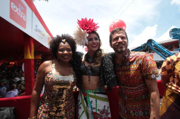 Margareth Menezes, Lia Sophia e Saulo Fernandes - Foto: Roberto Ramos/DP/D.A Press