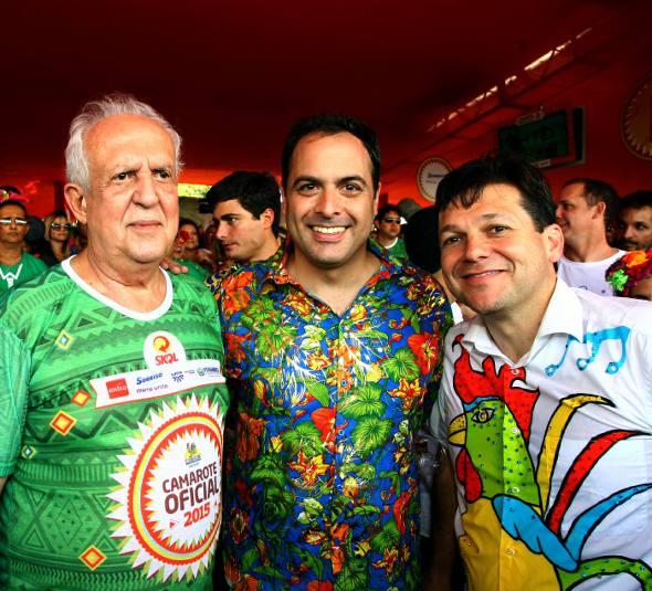 Jarbas Vasconcelos, Paulo Câmara e Geraldo Julio/Aloisio Moreira/Divulgação