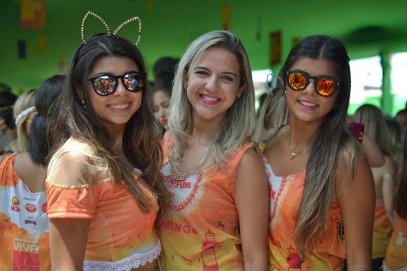 Daniele Melo, Tatiane Amorim e Jessica Melo. Crédito: Vinicius Ramos/Divulgação