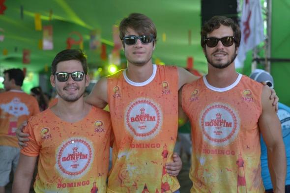 Rodrigo Godoy, Arthur Pimentel e Otton Pimentel. Crédito: Vinicius Ramos/Divulgação