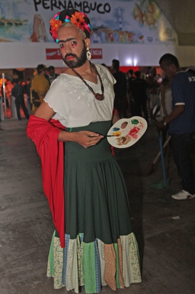 NÚMERO 2: Bruno Silva de Frida Kahlo na Sala de Justiça. Crédito: Roberto Ramos / DP / D.A Press