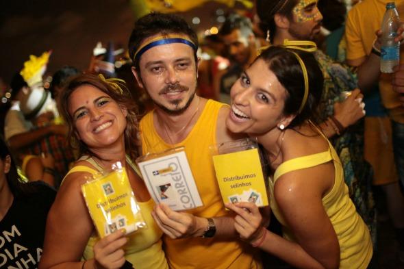 Cecília Miranda, Hiran Albuquerque e Carol Soares. Crédito: Celo Silva/Divulgação