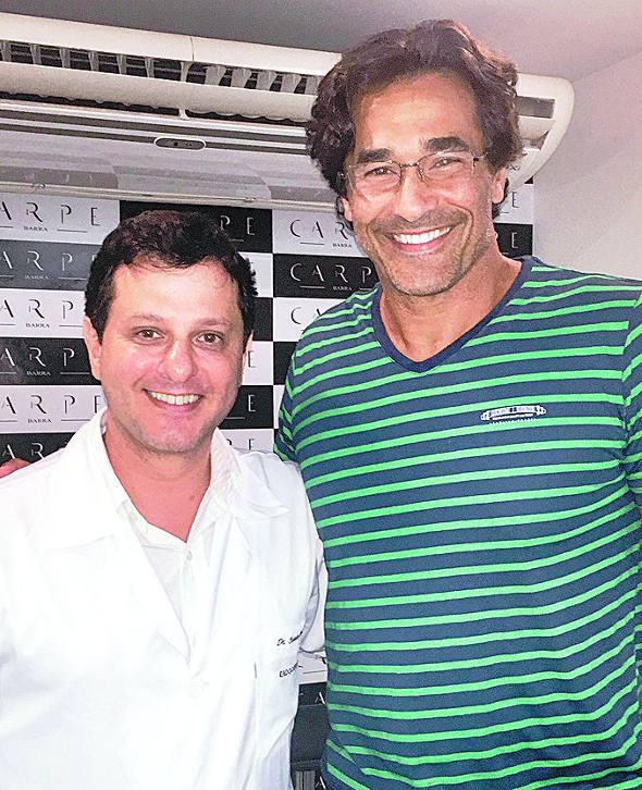 Luciano Szafir e o médico Claudio Ambrósio/Divulgação