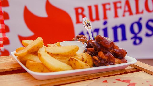Buffalo Wings que vão estar à venda no parque. Créditos: Baladeira Inovações/ Divulgação