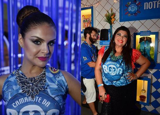 Paloma Bernardi e Fabiana Karla - Crédito: Camarote Boa - Antartica/ Divulgação