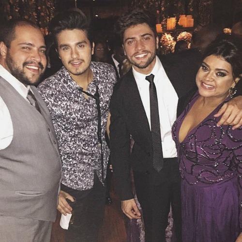 Thiago Abravanel, Luan Santana, Rodrigo Godoy e Preta Gil. Crédito: Reprodução Instagram