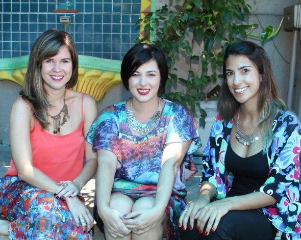Mariana Almeida, Isabela Vilaça e Rafaela Lucena. Créditos: Divulgação/ Fifi Comunicação