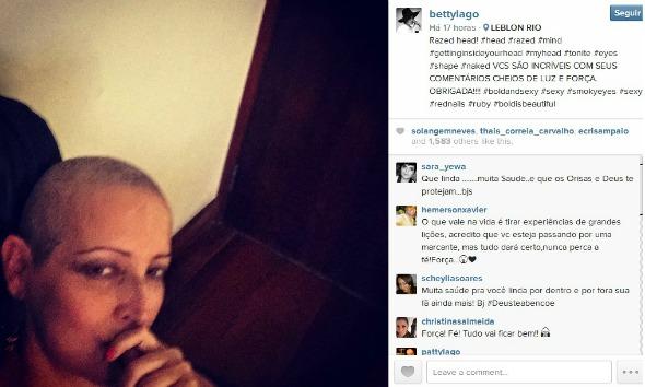 Créditos: Reprodução Instagram oficial Betty Lago