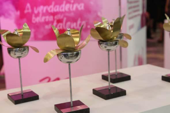 Troféu Feminilidade desenvolvido pela artista plástica Margot Monteiro - Crédito: Nando Chiappetta/DP/D.A Press