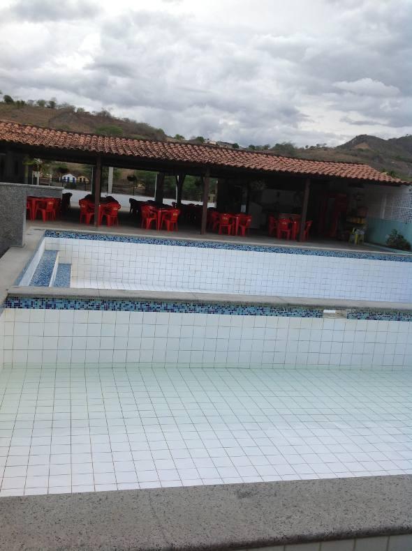 As piscinas externas